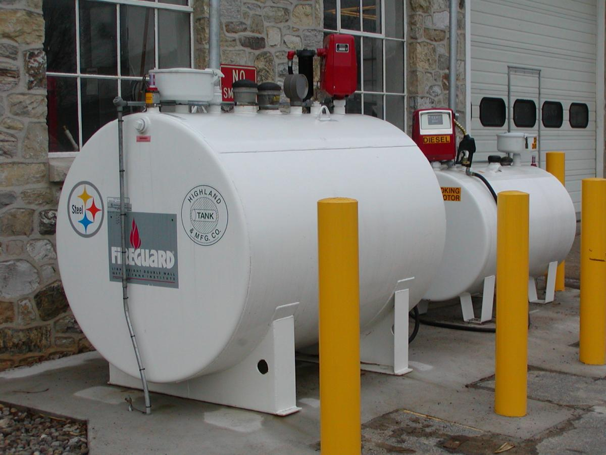 Diesel and gasoline aboveground storage tanks