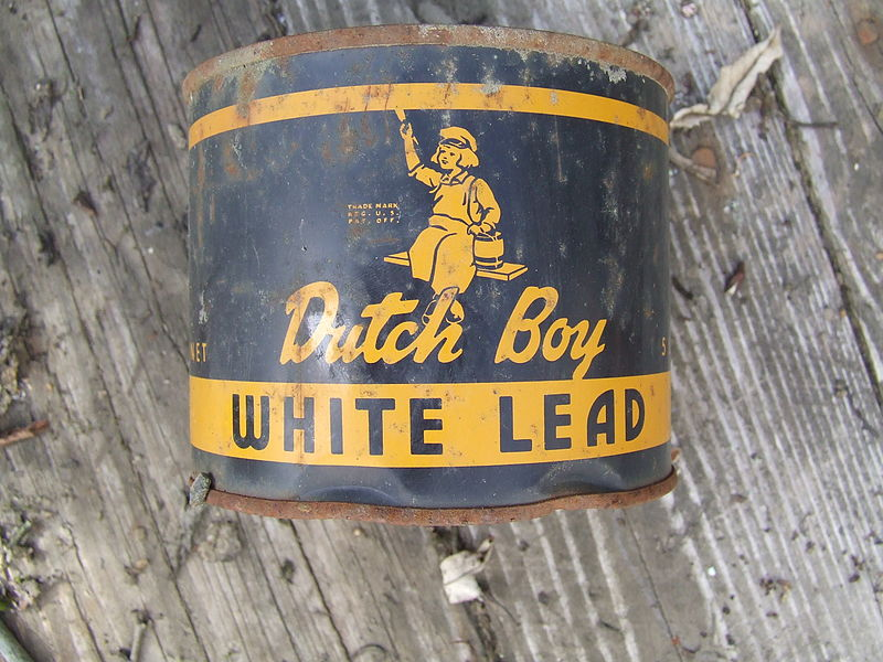 Dutch boy white lead paint can