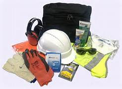 Various PPE options - hearing protection, gloves, hardhat