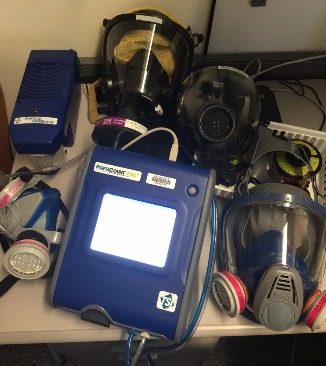 Respirators and testing equipment