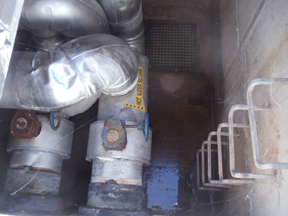 confined space with ventilation equipment