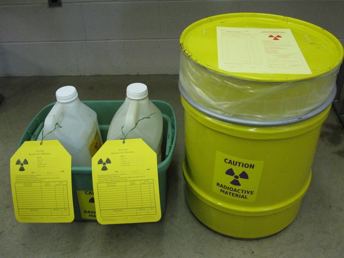 Radioactive waste containers